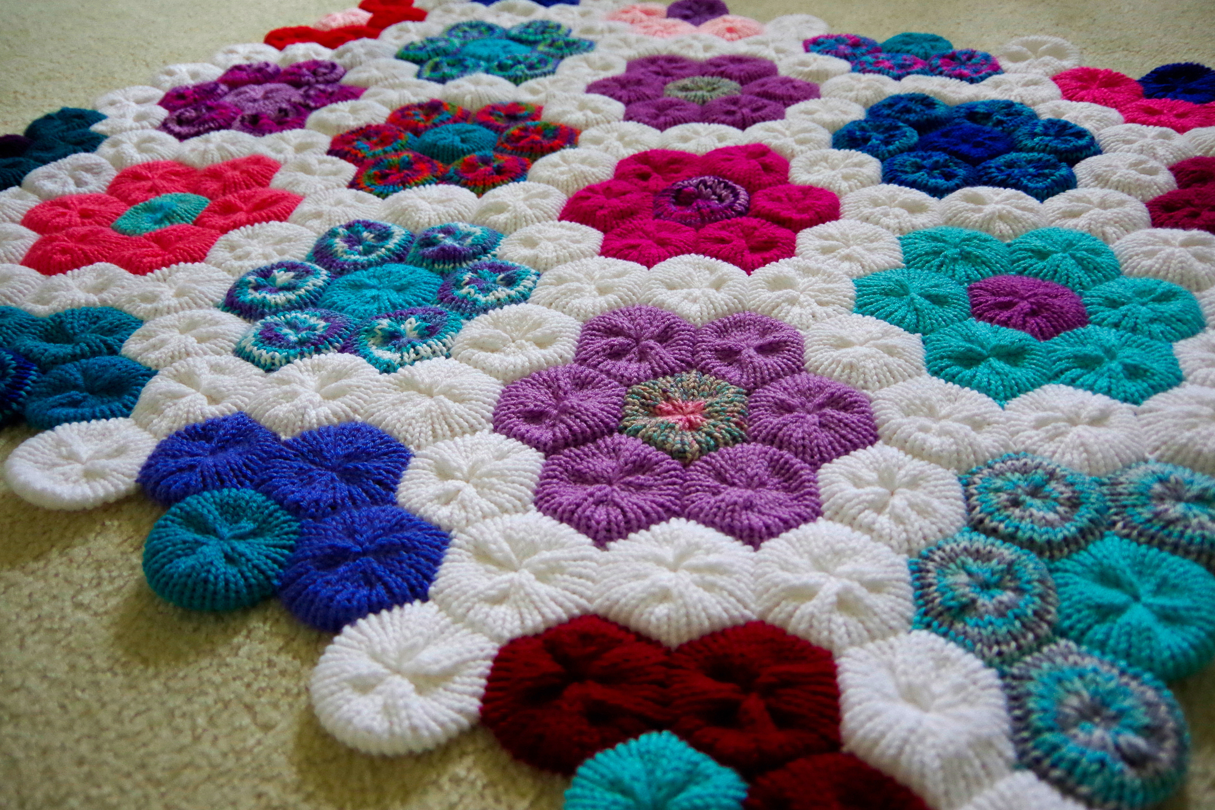 Knitting Machine Unique How to Make the Hexagon Flower Afghan On Your Addi Express Of Beautiful 49 Ideas Knitting Machine