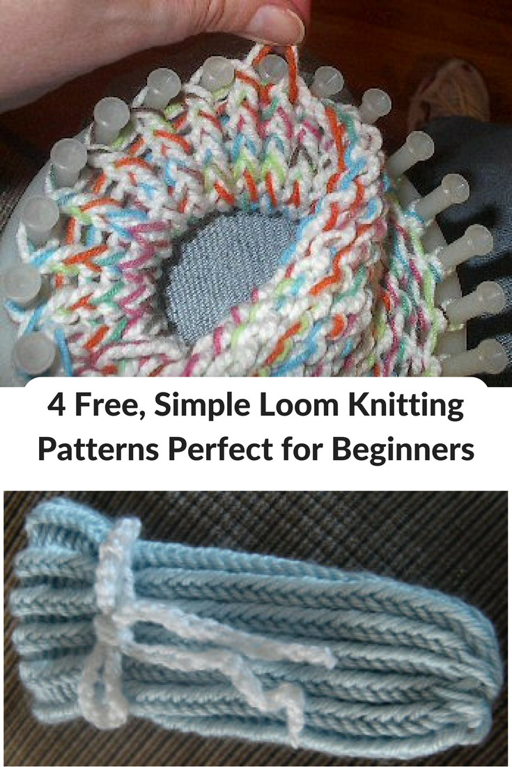 4 Free Simple Loom Knitting Patterns Perfect for