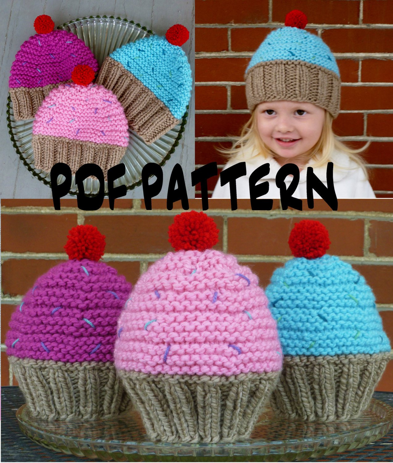 Knitting Patterns for toddlers Lovely Instant Download Cupcake Hat Knitting Pattern Knit Cupcake Of Awesome 49 Images Knitting Patterns for toddlers
