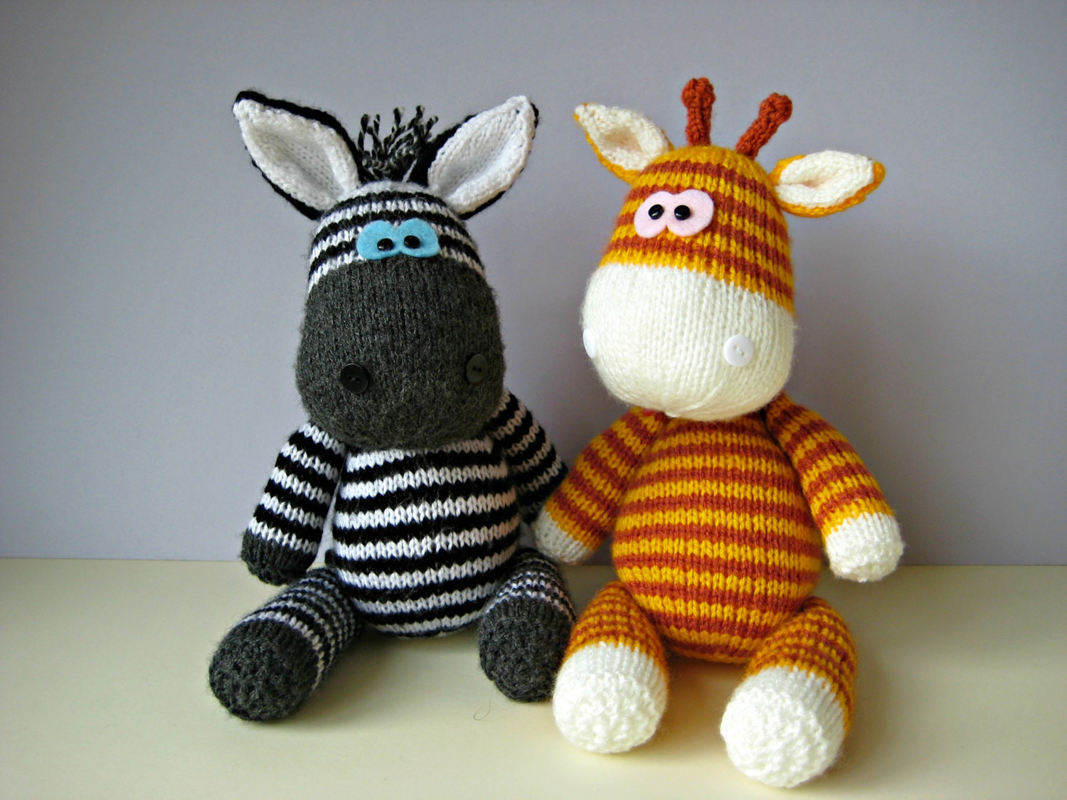 Knitting Patterns toys Lovely Gerry Giraffe and Ziggy Zebra toy Knitting Patterns Of Amazing 41 Models Knitting Patterns toys