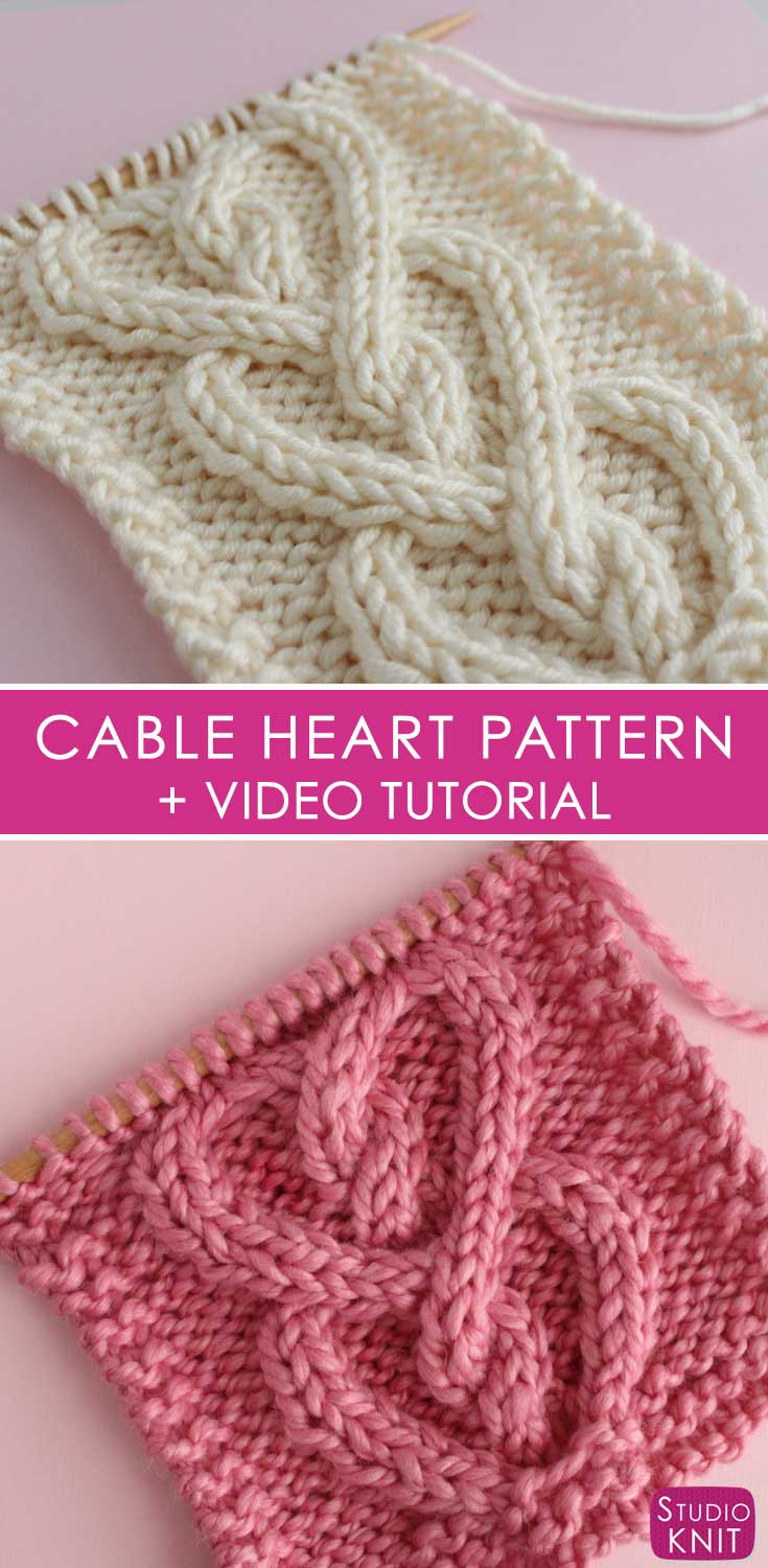 How to Knit a Cable Heart Stitch Pattern with Video