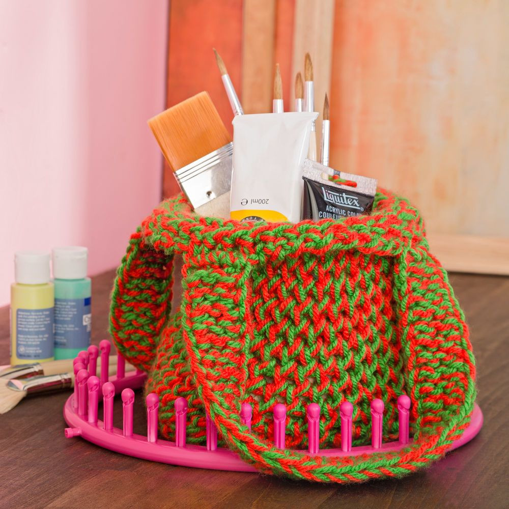 Knitting Projects Best Of This Colorful Loom Knit tote Puts the Fun In Shopping Of Top 45 Ideas Knitting Projects