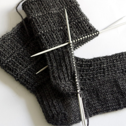 How to knit socks – heel flap turning the heel and gusset