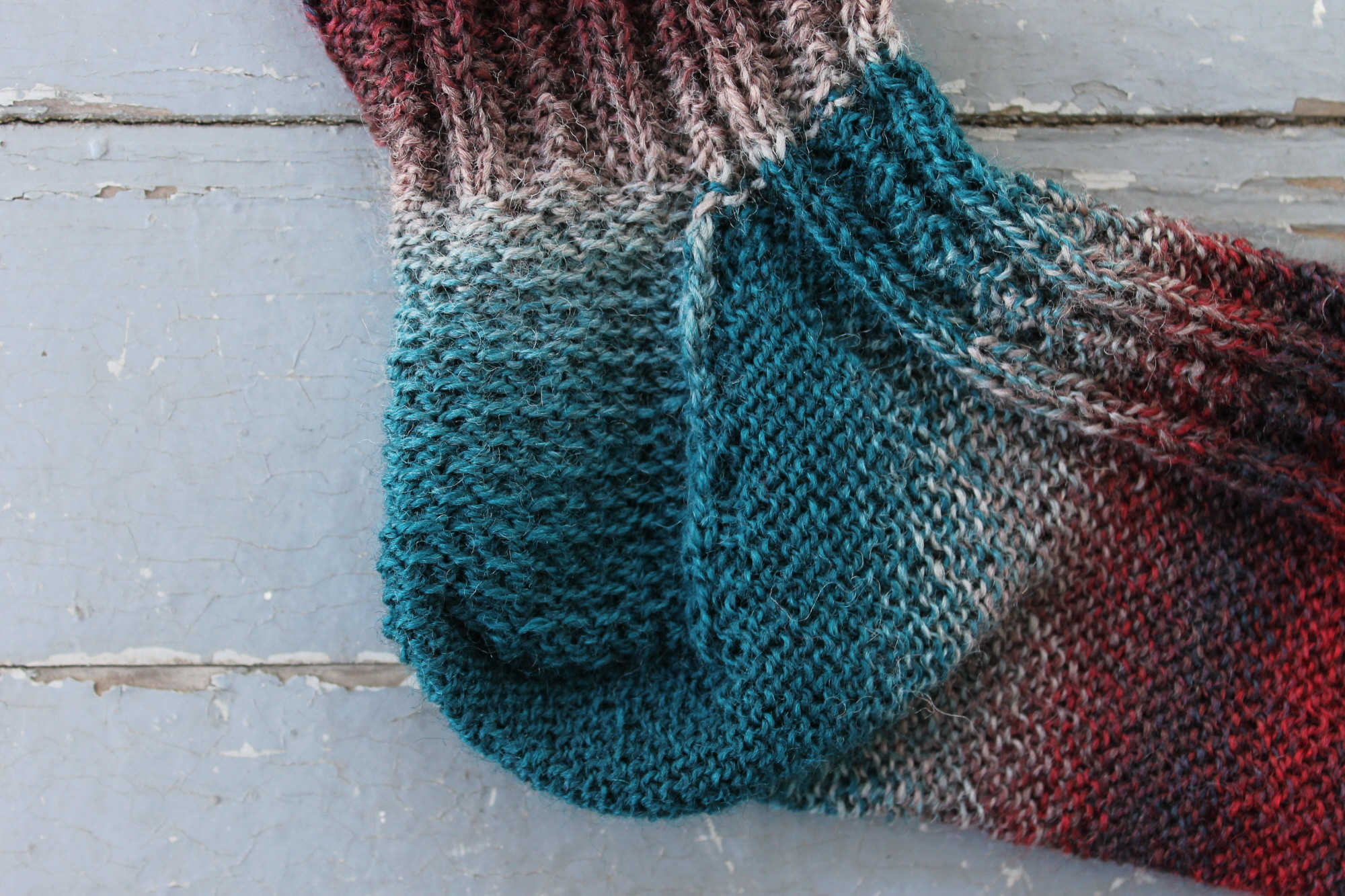 how to knit a sock heel