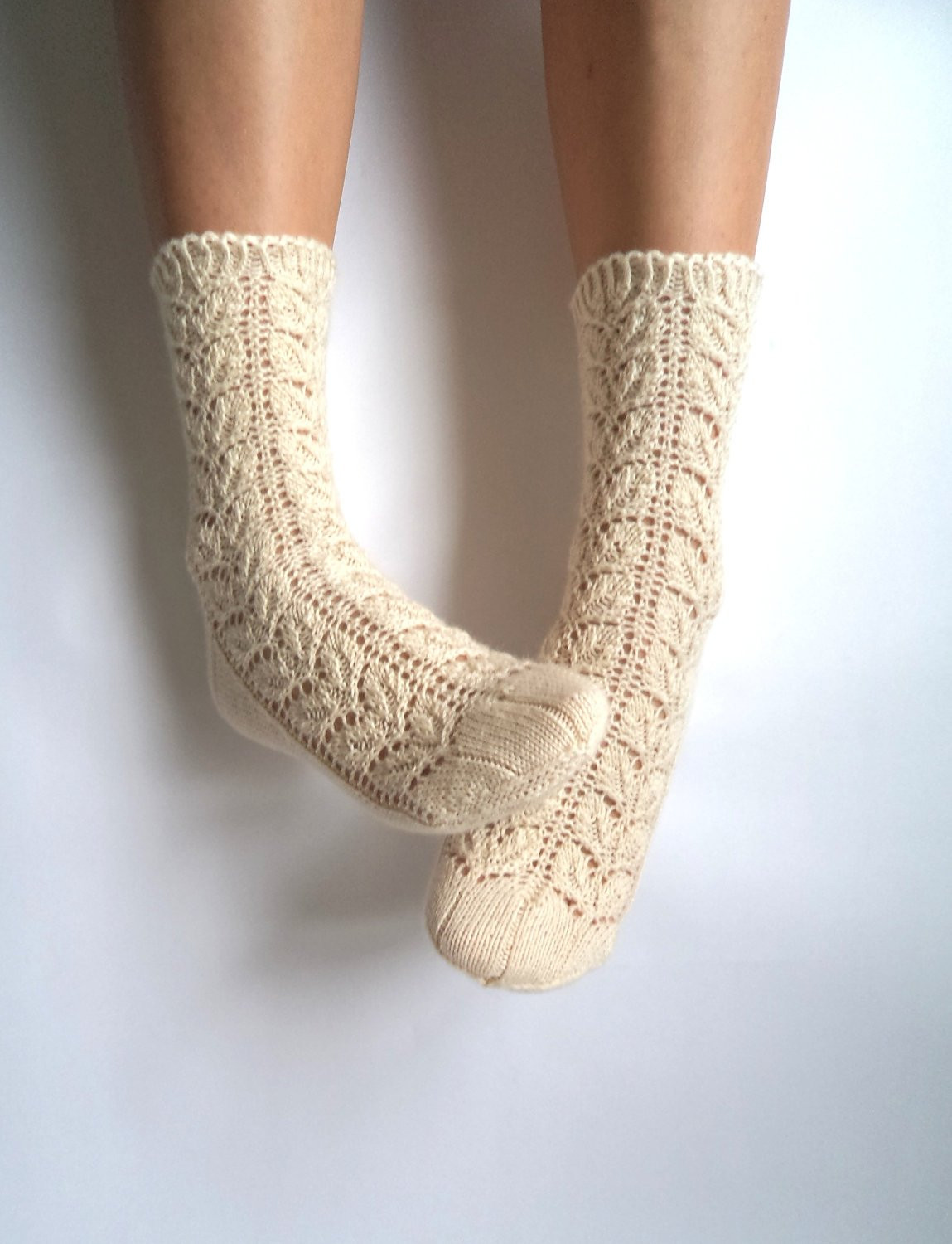 Knitting socks Unique F White Lace socks Hand Knit Wool socks Wool socks Lace Of Gorgeous 44 Pictures Knitting socks