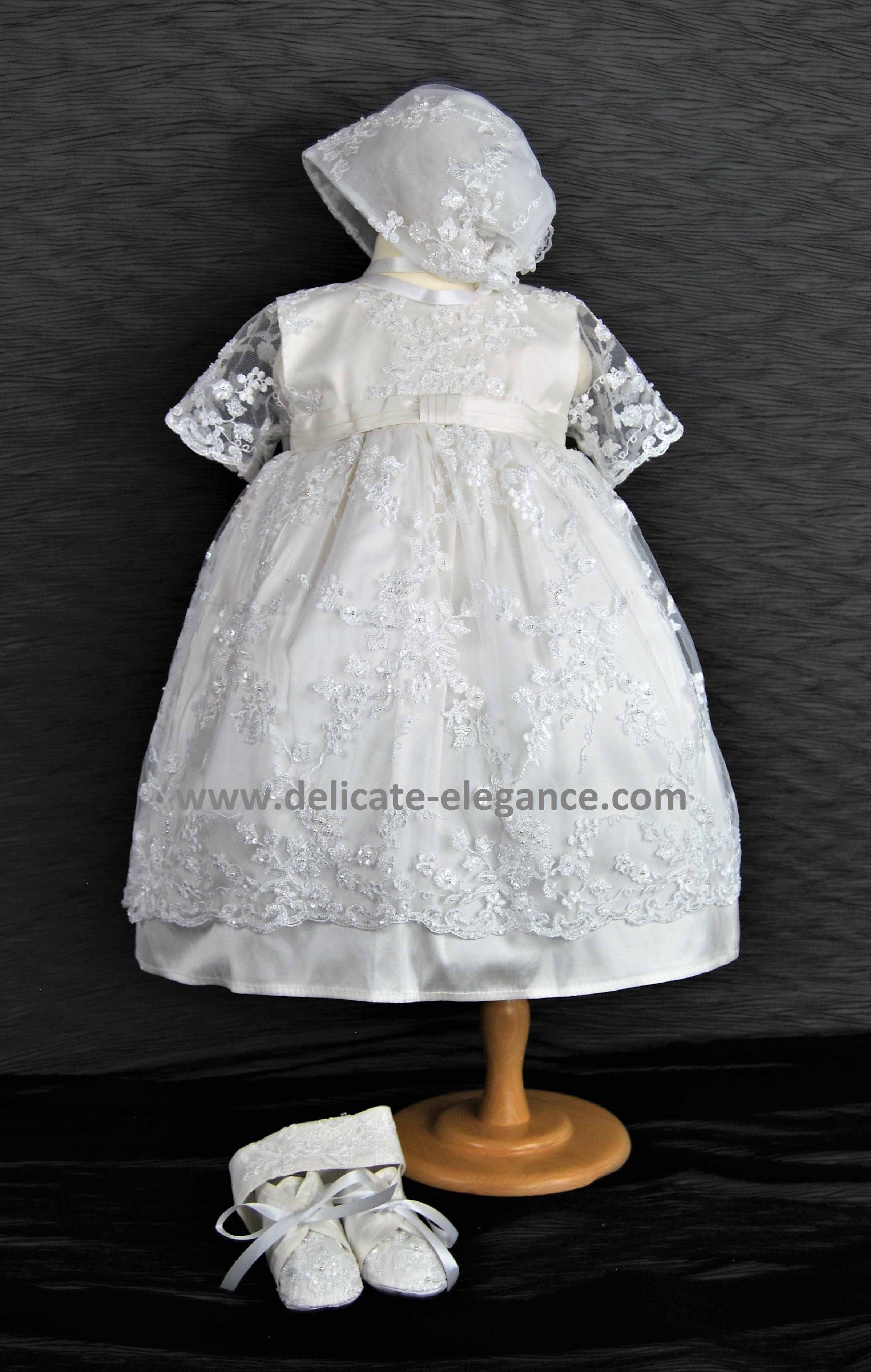 Lace Christening Dress Awesome 4241 01 White Lace Girls Silk Christening Dress Of Innovative 42 Images Lace Christening Dress
