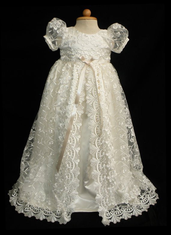 Lace Christening Dress Beautiful Stunning F White Lace Christening Gown Baptism by Caremour Of Innovative 42 Images Lace Christening Dress