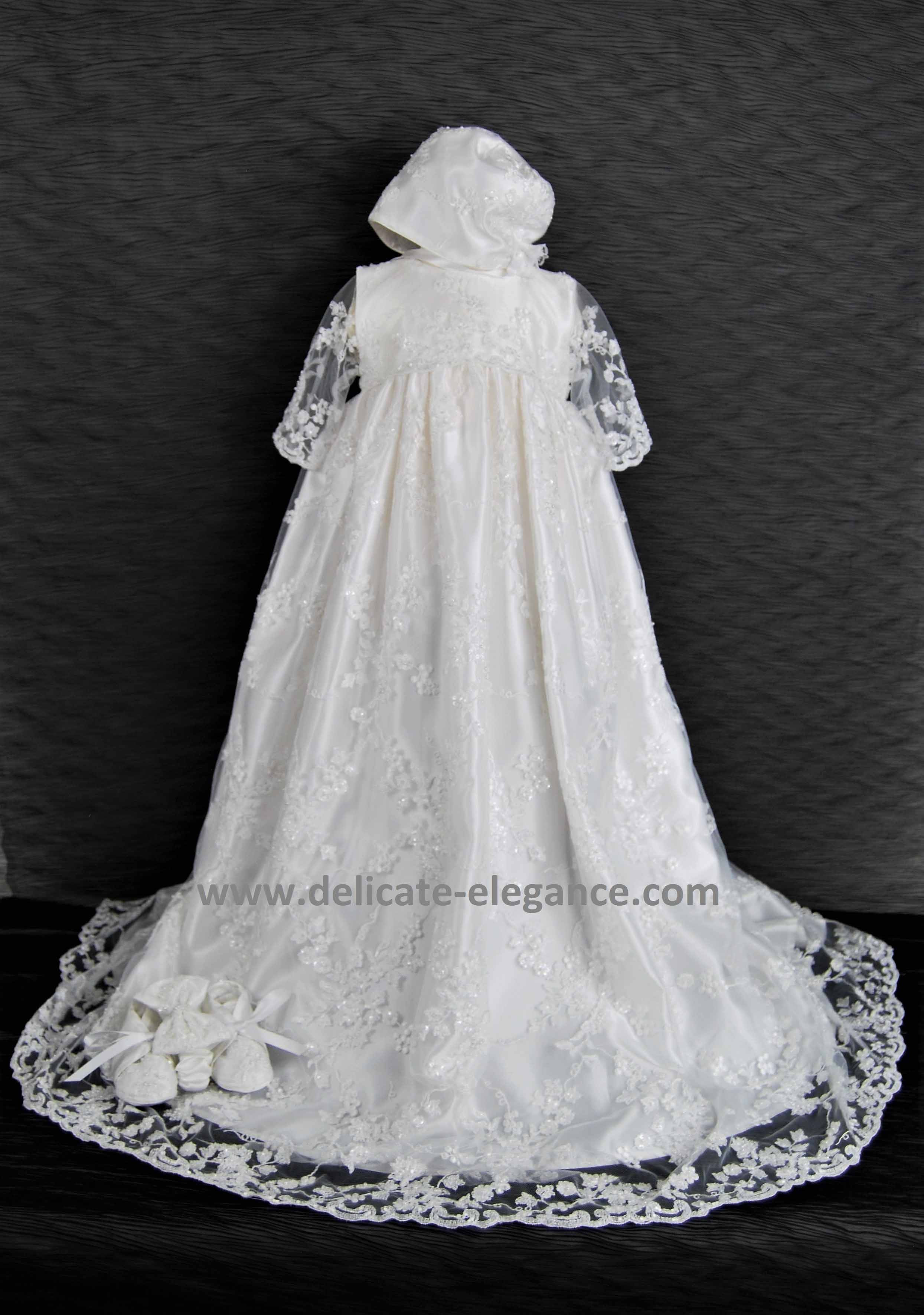 Lace Christening Dress Best Of 4348 White Lace Girls Satin Christening Gown Of Innovative 42 Images Lace Christening Dress