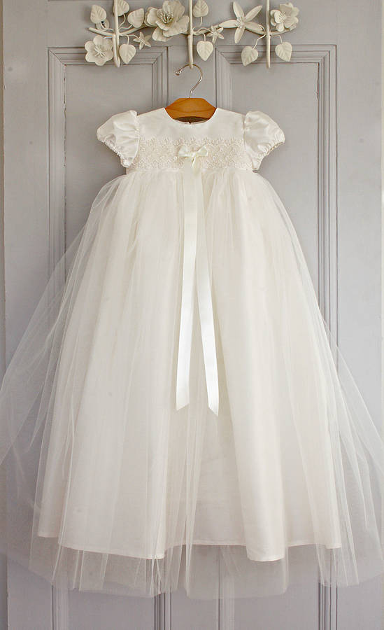 christening gown a by adore baby