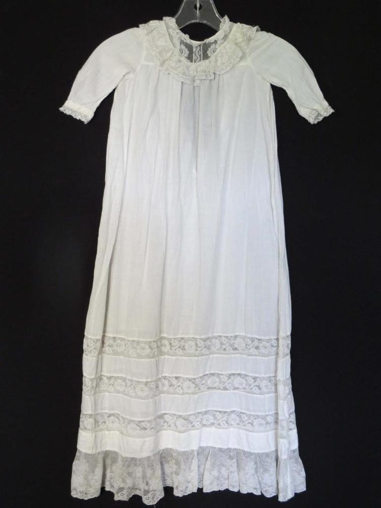 Lace Christening Dress Fresh Rare Victorian Edwardian White Cotton & Lace French Of Innovative 42 Images Lace Christening Dress