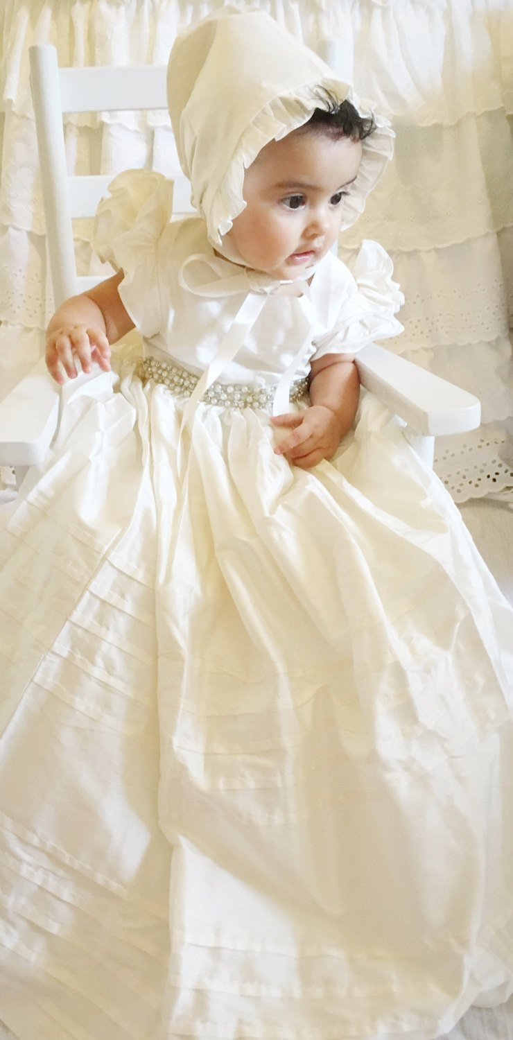 Lace Christening Dress Fresh Silk Christening Gown Baptism Gown with Beaded Lace 0 3 Of Innovative 42 Images Lace Christening Dress