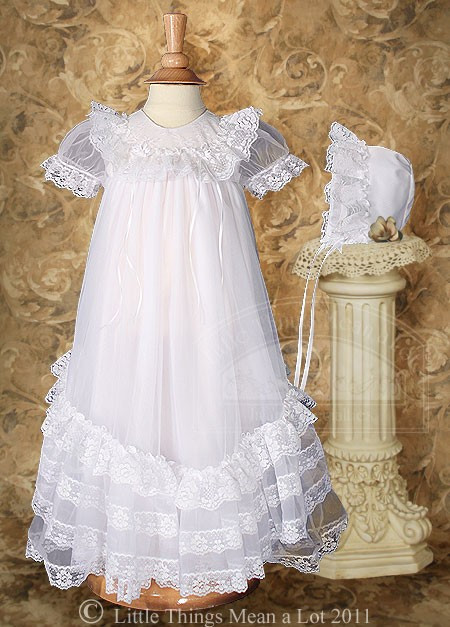 Lace Christening Dress Fresh Tricot Christening Gown with Ruffles & Lace Of Innovative 42 Images Lace Christening Dress