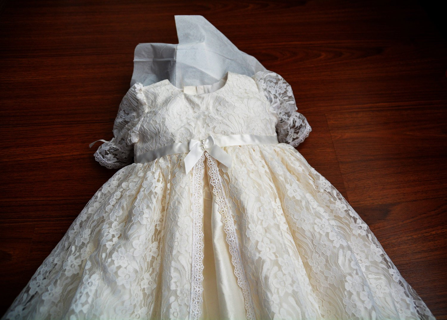 Madison Lace and Silk Christening gown set Baptism Gown