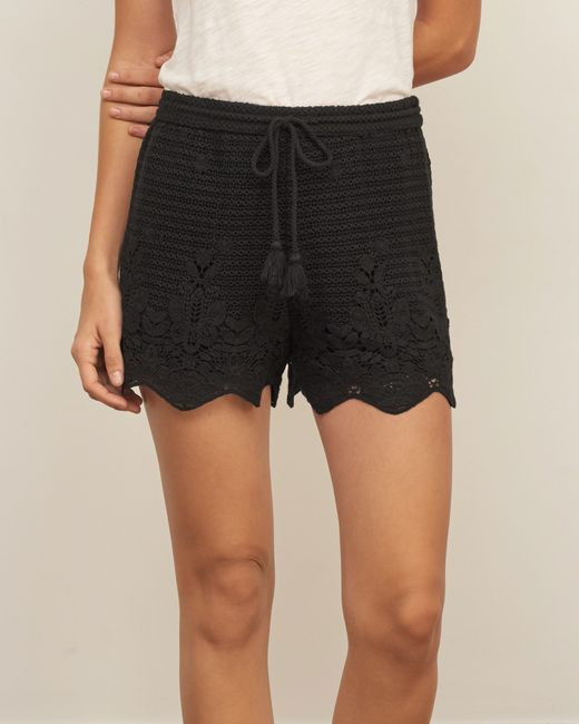 Lace Crochet Shorts Lovely Abercrombie & Fitch Crochet Lace soft Shorts In Black Of Wonderful 49 Images Lace Crochet Shorts