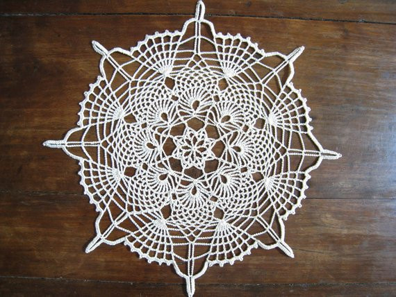 Lace Doilies Beautiful Lace Doily Natural or Beige Pineapple Crochet Doily Table Of Fresh 41 Ideas Lace Doilies