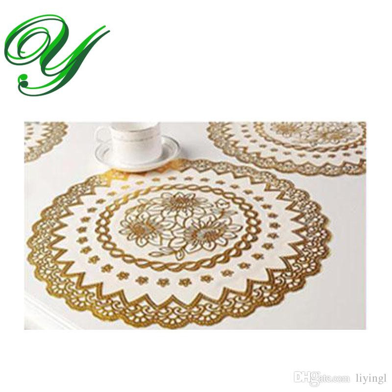 2017 Gold Round Lace Doilies Crafts 5 Sizes Christmas