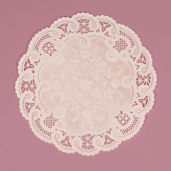 100 White French Lace Paper Doilies 10 Inches by LemonZestCo