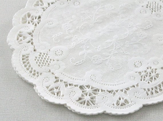 100 6 Inch Round French Lace Paper Doilies BULK