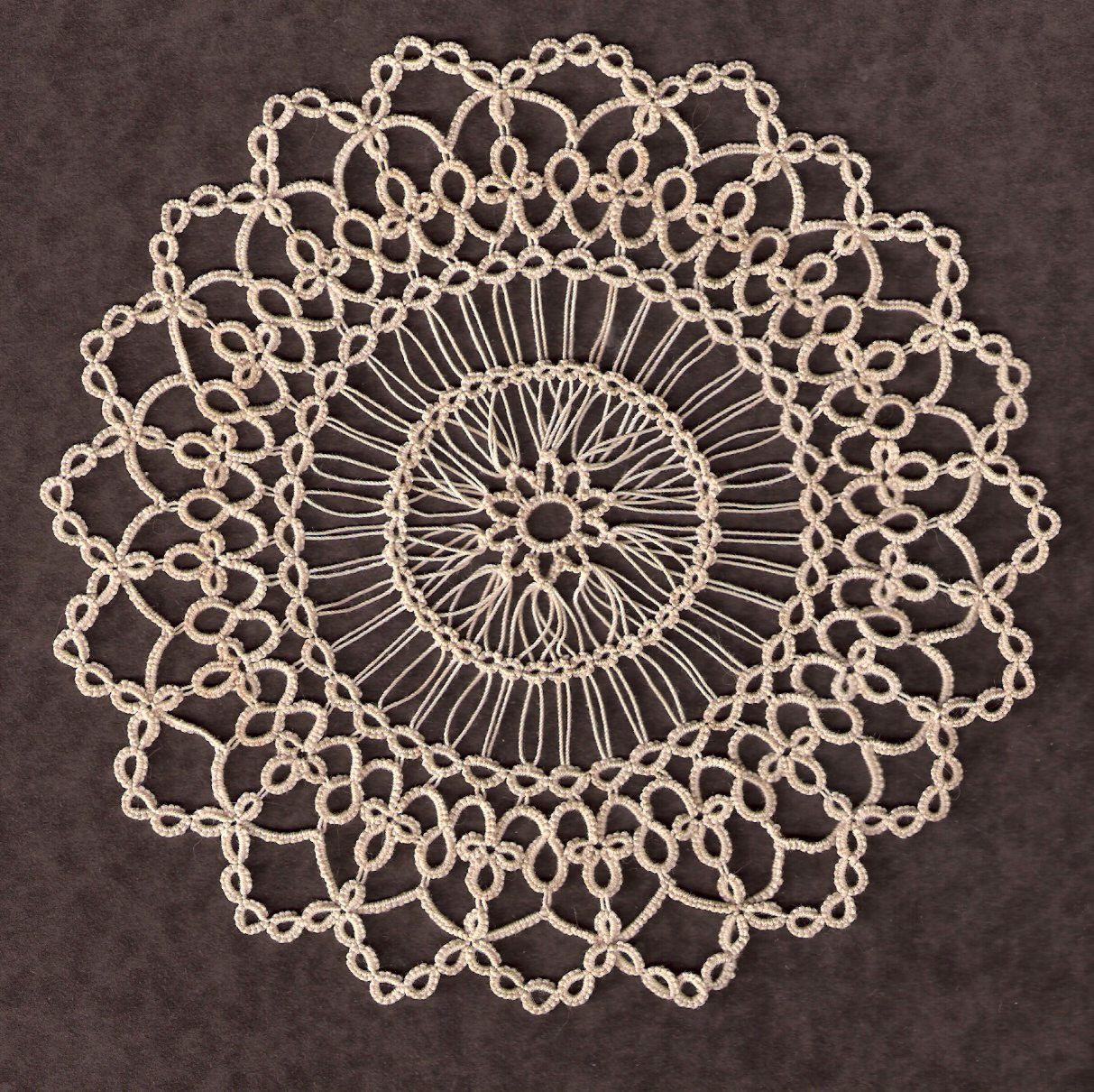 Mary Maynard s Small Doily in Tatting AND Hairpin Lace