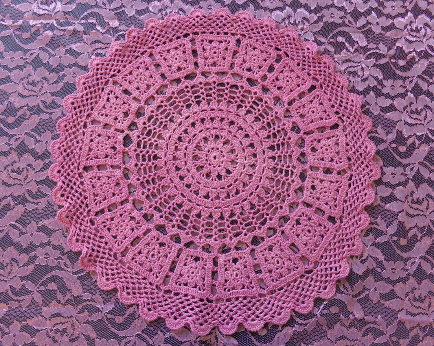 Lace Doilies Fabric Awesome Round Hand Dyed Pink Crochet Doily Pink Fabric Lace Of Perfect 47 Ideas Lace Doilies Fabric