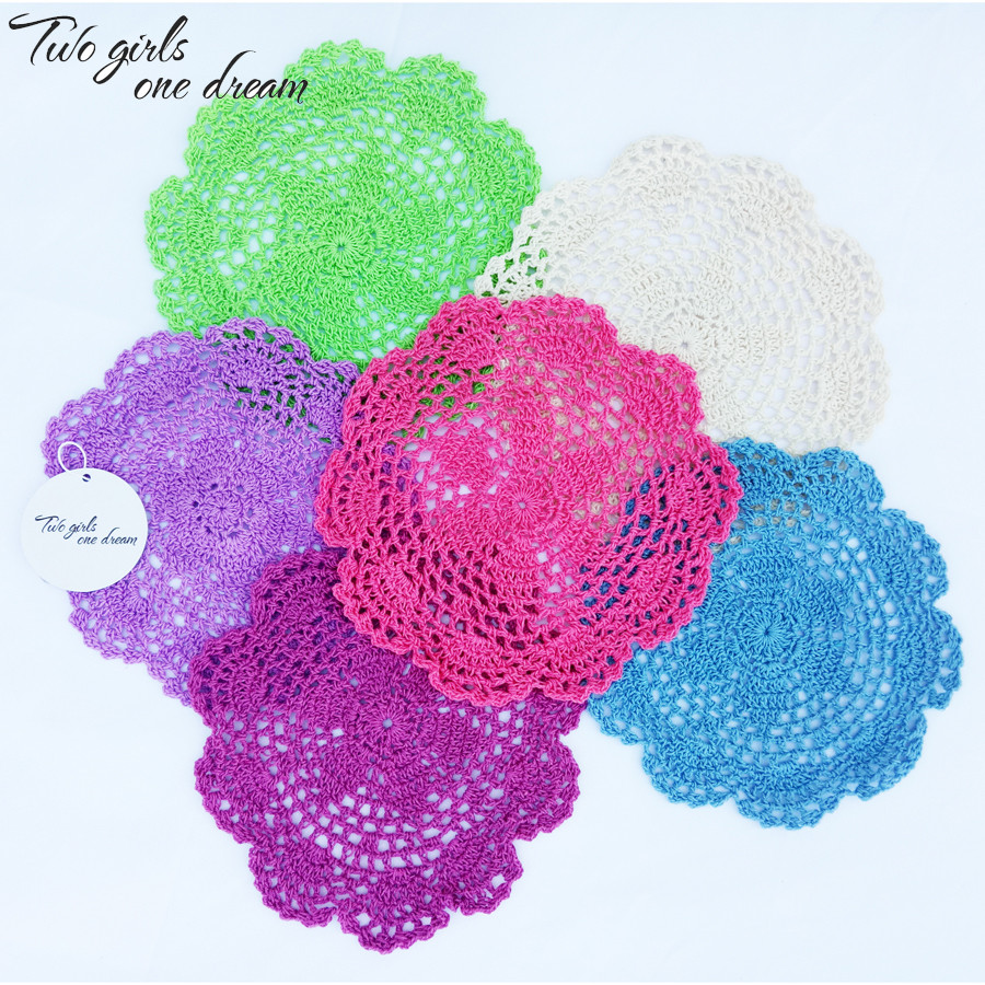 Free shipping 24pcs lot 20cm Round Cotton Crochet Lace