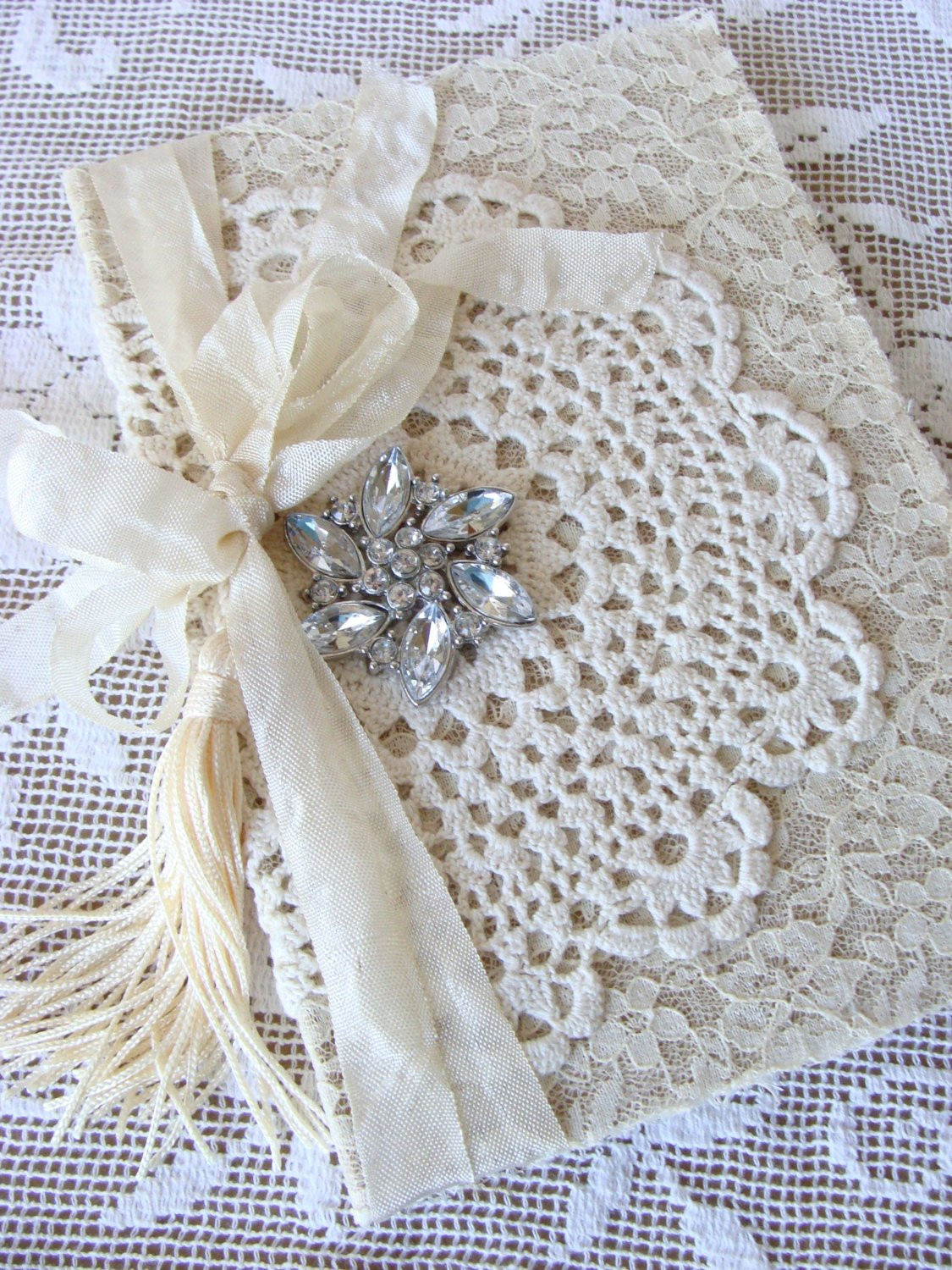 Lace Doilies Fabric Lovely Vintage Lace Doily Wedding Journal Wedding Memory Book Diary Of Perfect 47 Ideas Lace Doilies Fabric
