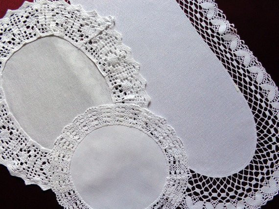 Lace Doilies Fabric Lovely White Doilies with Fabric Lace Border Set Of Three Of Perfect 47 Ideas Lace Doilies Fabric