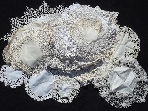 Lace Doilies Fabric Luxury 80 Vintage Doilies Cotton Fabric Doily Table Mats W Of Perfect 47 Ideas Lace Doilies Fabric