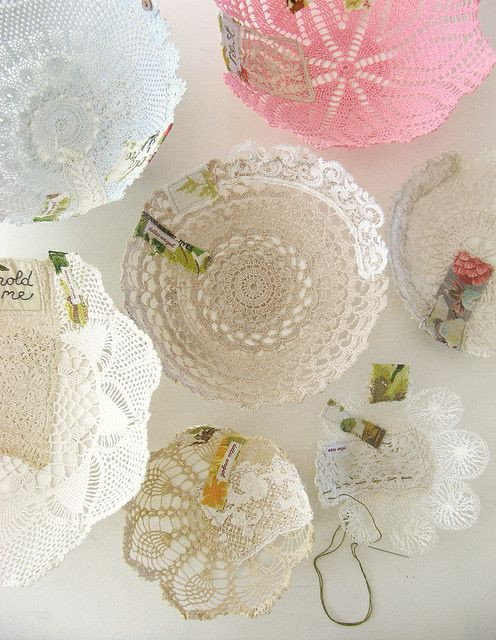 17 Best images about Crafts Lace Doilies Fabric on