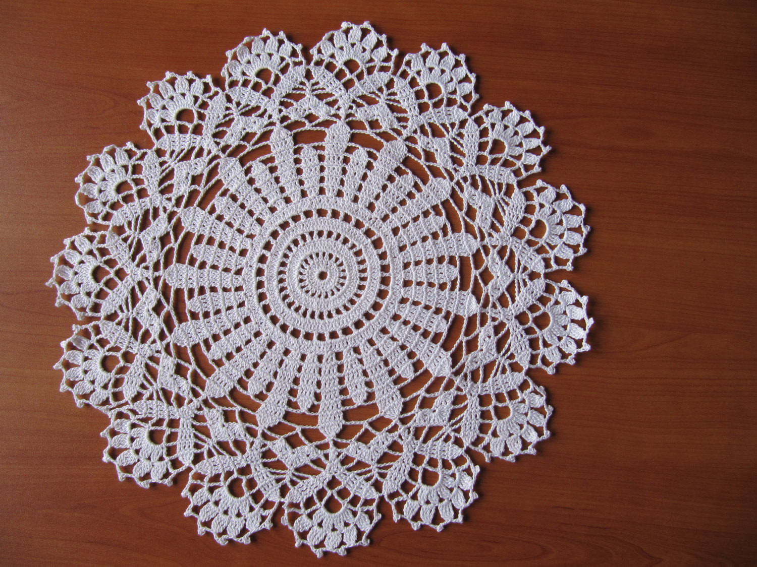 Lace Crochet White Round Table Decoration Doily Handmade