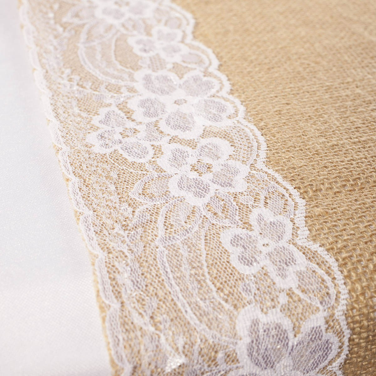 Lace Edging Beautiful Hessian and Lace Table Runners Lace Edging Burlap Of Incredible 44 Ideas Lace Edging