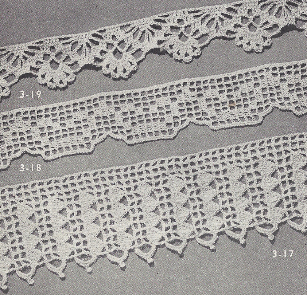 Vintage Crochet PATTERN to make 3 Easy Lace Edging Designs