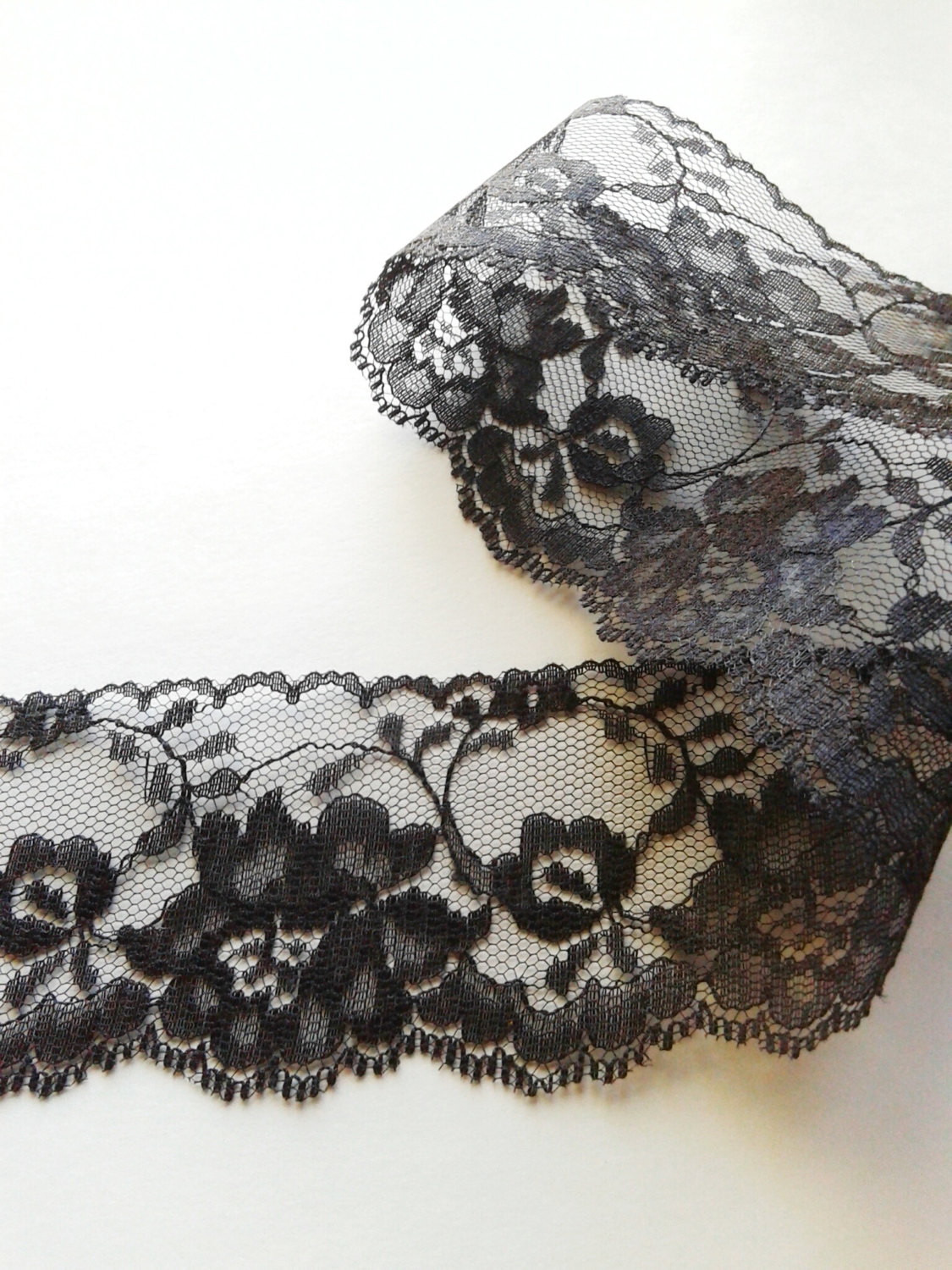 Lace Edging Lovely Black Lace Fabric Trim with Scalloped Edge Black Lace Of Incredible 44 Ideas Lace Edging