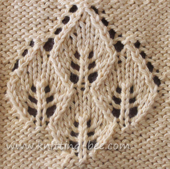 Lace Knitting Patterns Beautiful Four Leaf Lace Panel ⋆ Knitting Bee Of Innovative 48 Pics Lace Knitting Patterns