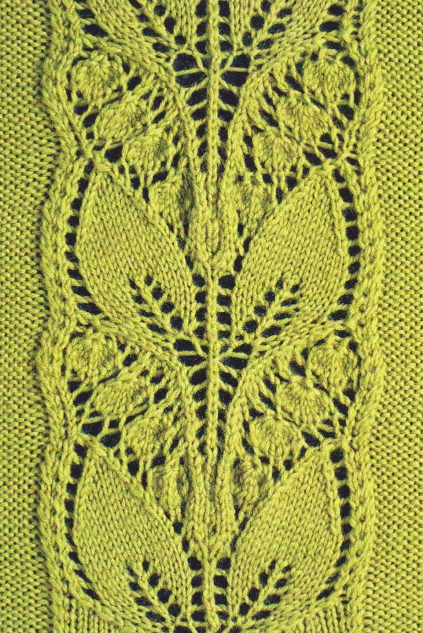 Lace Knitting Patterns Best Of Leafy Knitted Lace Panel ⋆ Knitting Bee Of Innovative 48 Pics Lace Knitting Patterns