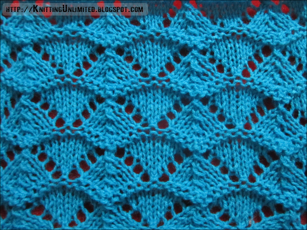 Lace Knitting Pattern 2 Shell Stitch Knitting Unlimited