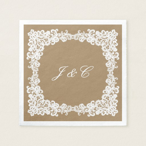 Lace Paper Napkins Awesome Burlap Brown and White Lace Cocktail Napkin Of Contemporary 49 Images Lace Paper Napkins