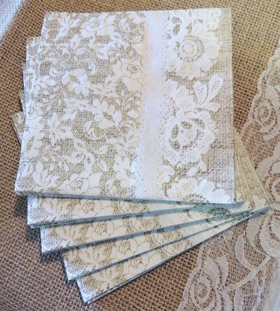 Lace Paper Napkins Elegant Burlap and Lace Paper Beverage Napkins Farmhouse Wedding Of Contemporary 49 Images Lace Paper Napkins
