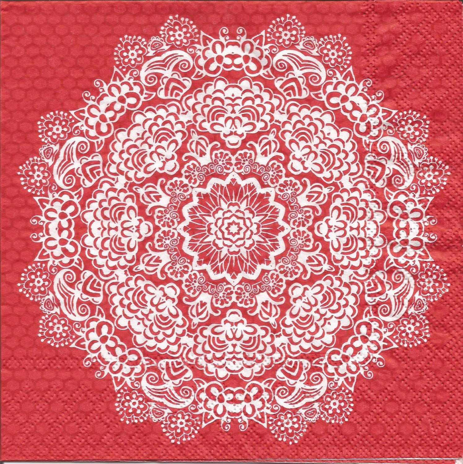 Lace Paper Napkins Fresh Red Lace Flower Decoupage Paper Napkins 4 Red Mandala Napkins Of Contemporary 49 Images Lace Paper Napkins
