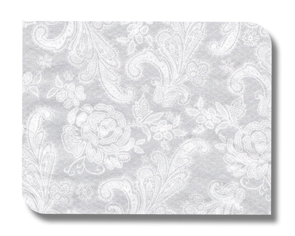 Lace paper napkin serviette for decoupage x 1 Soft grey lace
