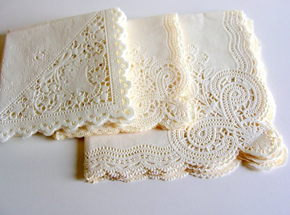 Lace Paper Napkins Lovely Vintage Paper Lace Napkins Lot Of 20 Of Contemporary 49 Images Lace Paper Napkins
