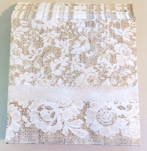 Lace Paper Napkins New Burlap and Lace Paper Beverage Napkins Farmhouse Wedding Of Contemporary 49 Images Lace Paper Napkins