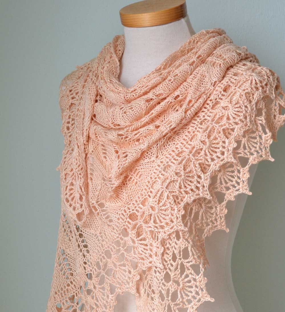 Lace Shawl Lovely Peach Lace Knitted Cotton Shawl with Lace Crochet Border Of Top 45 Pictures Lace Shawl