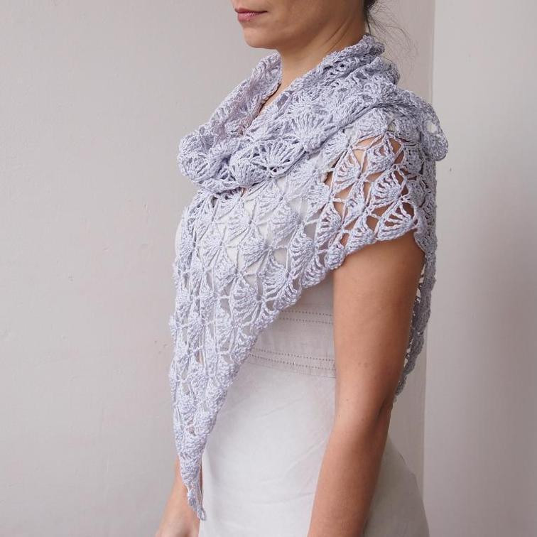 10 Shell Stitch Crochet Shawls Inspired by the Virus Shawl