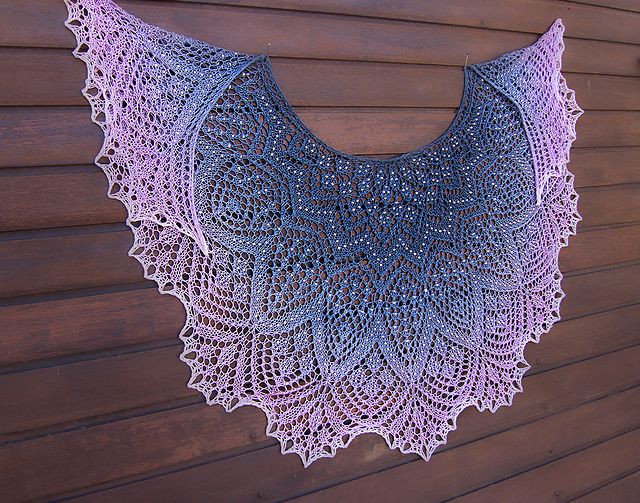 Lace Shawl Pattern Unique Pearla Lace Shawl Pattern by Anna Victoria Of Gorgeous 43 Models Lace Shawl Pattern