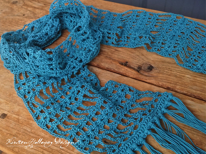 Pattern Simply Lace Scarf Kirsten Holloway Designs