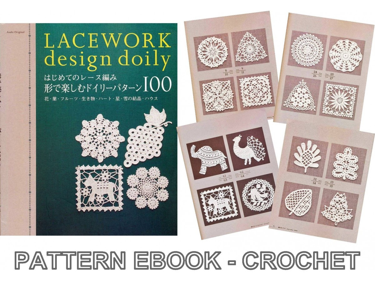 Lacework Crochet Fresh Lacework Doily Pdf Crochet Pattern Japanese Ebook No 022 Of Brilliant 50 Pics Lacework Crochet
