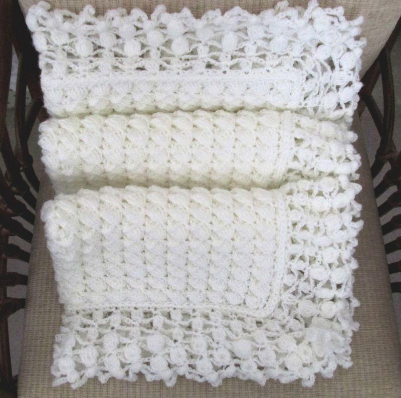 mary liz cream crochet lace baby blanket pattern by susan d kerin