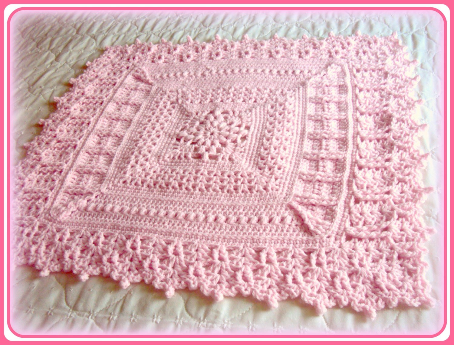 Lacy Baby Blanket Crochet Pattern Lovely Lacy Crochet Free Baby Blanket Patterns Of New 40 Images Lacy Baby Blanket Crochet Pattern