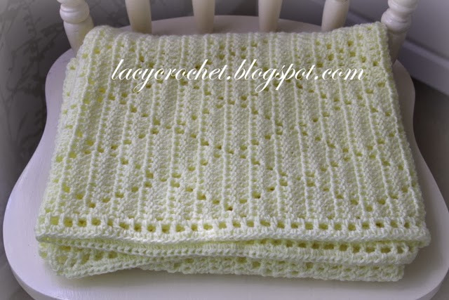 [Free Pattern] Super Simple Lacy Diamonds Blanket That